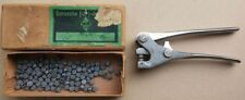 Plombownica SUDAG i plomby | Vintage SUDAG sealing pliers + security lead seals