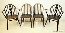 4 1950s Ercol Bow Back Dining Chairs Inc 2 carvers FREE Nationwide Delivery