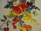 +Vintage+WILENDUR+Cotton+Fruit+Red+Apple+Cherries+Pears+Tablecloth+%7E+54%22x64%22