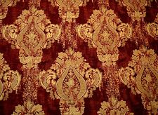 Mercola Red Swavelle Fabric Red Gold Upholstery Damask