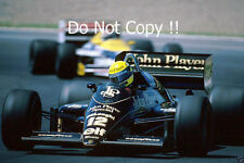 Ayrton Senna JPS Lotus 98T Winner Spanish Grand Prix 1986 Photograph 1