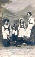 cst 13 - 1912 TIROLO TIROL Costumi tirolesi FP Viaggiata Ed. Angerer Schwarz