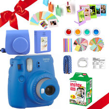 Fujifilm Instax Mini 9 Film Camera Cobalt Blue + 20 Sheets + Case + Album +MORE