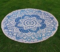 Round Mandala Tapestry Wall Hanging Towel Beach Yoga Mat Indian Boho Rug Throw