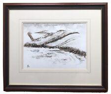 Original Irish Art Watercolour Painting Winter Landscape Co. Down By Peter Shaw