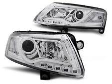 AUDI A6 C6 2004 2005 2006 2007 2008 FARI ANTERIORI LPAU95 LED TUBE LIGHTS CROMO