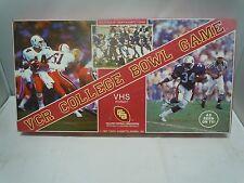 VCR COLLEGE BOWL BOARD GAME 1987 FAMILY FUN RETRO VINTAGE COMPLETE Football
