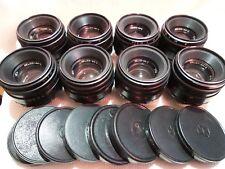 LOT of 8 Helios 44-2 2/58 Russian lens & caps fo M42 mount SLR Zenit camera 8174