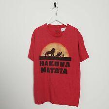Vintage Disney Roi Lion Grand Logo T-Shirt Rouge Taille L