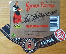 Etiquetas vinos SIDRA  EXTRA  LA ASTURIANA  Asturias ESPAÑA  Labels wine