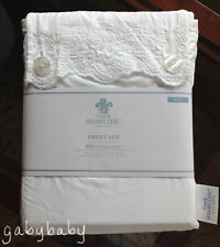 Rachel Ashwell Simply Shabby Chic Woodrose Embroidered Lace White KING Sheet Set