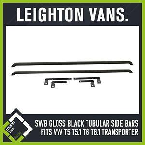 SWB LV Gloss Black Side Bars (Fits VW Transporter T5 T6 T6.1)