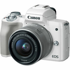 Canon EOS M50 Mirrorless Digital Camera with 15-45mm Lens (White) 2681C011