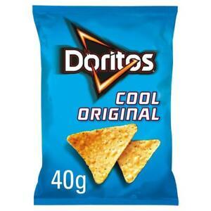 Doritos Crisps Box of 32 x 40g Cool Original Tortilla Chips
