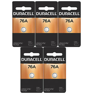 5x Duracell 76A 1.5V Alkaline Battery Replacement LR44,CR44,SR44,AG13, A76, PX76