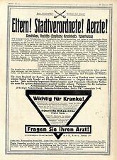 Quarzlampen- Gesellschaft Hanau Künstliche Höhensonne Histor. XXL- Annonce 1921