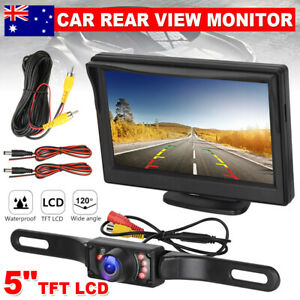 5'' TFT-LCD Screen Monitor Reverse Camera Reversing Car Rear View Kit Waterproof