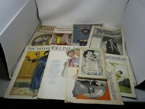 Vintage Lot of 8 MAGAZINES *MUNSEY/WOMAN'S HOME COMPANION/MORE (1899-1926)*