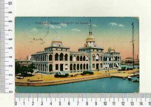 """11673) PC Egypt 30's """" Ports Said -bureaux De La C. Le Du Canal Mantova"""