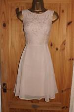 Nude peach lace floaty vintage 40s 50s 60s evening party tea dress size 18 20