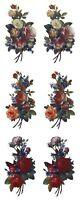"6 Rose Bouquet 2"" X 1""  Waterslide Ceramic Decals Bx"