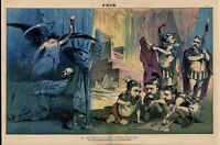 PRESIDENT GARFIELD DEATHBED AS ULYSSES GRANT AND DORSEY PLAY DICE CHESTER ARTHUR