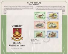 (K74-45) 1982 Kiribati FDC Island birds British Comm Summer collection &page(AT)