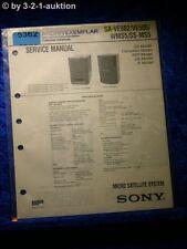 Sony Service Manual SA VE502 VE505 WMS5 / SS MS5 (#5362)