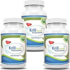 3 KRILL Oil 1200mg Serving Omega-3 Fatty Acids EPA DHA  Maximum Strength 180 cap