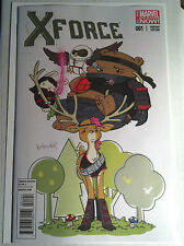 X-FORCE #1 ANIMAL VARIANT by KATIE COOK NM MARVEL NOW SIMON SPURRIER ROCK-HE KIM