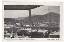 Le Bourget Restaurant Open Air Dining Room Lake Placid New York postcard