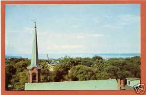 View of Casco Bay Portland Maine ME postcard