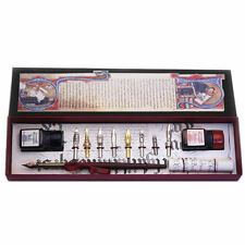 Calligraphy Set, Wood Pen, Nibs and Ink Bottles Set, Great Gift (2301)