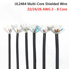 222426 Awg Shielded Wire Ul2464 Audio Headphone Signal Cable 234568 Cores