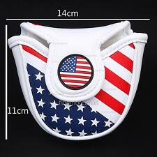 Magnetic US Flag Golf Mallet Putter Head Cover for Scotty Cameron Odyssey Ping