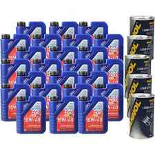 24L Motoröl Liqui Moly Touring High Tech 15W-40 5x MANNOL Leak-Stop ADDITIV