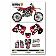 Solitaire Motocross Graphics Honda CR 250 1992-1994 dirt bike graphics ENJOY MFG