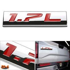 """1.7L"" Polished Metal 3D Decal Red Emblem Exterior Sticker For Honda Civic"