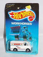 Hot Wheels 1989 Workhorses #2808 Delivery Truck  White WONDER Hostess Twinkies