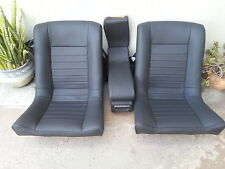 BMW E9 3.0CS 2800CS REAR SEAT KIT SET 100% LEATHER NEW EXAMPLE BLACK BEAUTIFUL