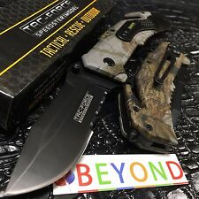 "Tac Force Spring Assisted Half Serrated Rescue Pocket Knife ""Sniper"" TF-688CA"