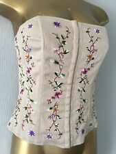 BNWT Warehouse embroidered bustier top size 12