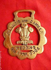 "Rare Horse Brass Charles & Camilla Wedding 9th April 2005 - ""Postponed Wedding"""