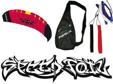 Dual Line Power Power Kite Speed Foil Parafoil Speedfoil Stunt Kite Red Venom