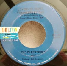 """Fleetwoods Dolton 62 """"LOVERS BY NIGHT, STRANGERS BY DAY"""" FREE SHIPPING"""