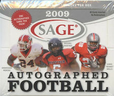 2009 Sage Autographed Football Hobby Box - Factory Sealed!