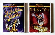 Disney's Make Mine Music & Melody Time 2 DVD Movie Set 16 Famous Cartoon Shorts