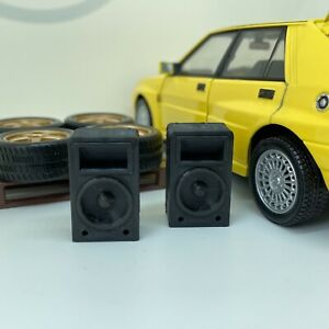 1:24 Scale 2 x Club Speakers for Diorama Garage, Workshop, Doll House
