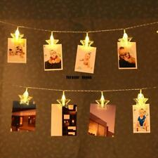 3M 20 LED Photo String Lights Photo Clips Battery Powered Fairy Twinkle Lights
