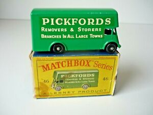 MATCHBOX 1-75 SERIES MB 46b 'PICKFORDS' REMOVAL VAN 1960 MINT WITH ORIGINAL BOX